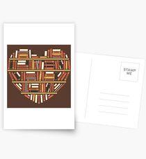 I Heart Books Postcards
