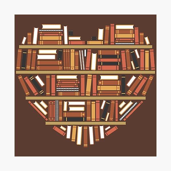 I Heart Books Lámina fotográfica