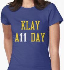 Klay all day score Women's Fitted T-Shirt