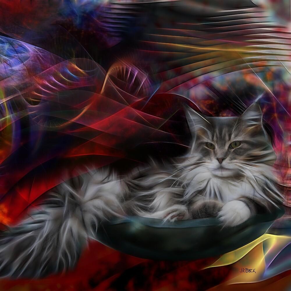 Bowl Of More Fur (Square Version) - By John Robert Beck by studiobprints