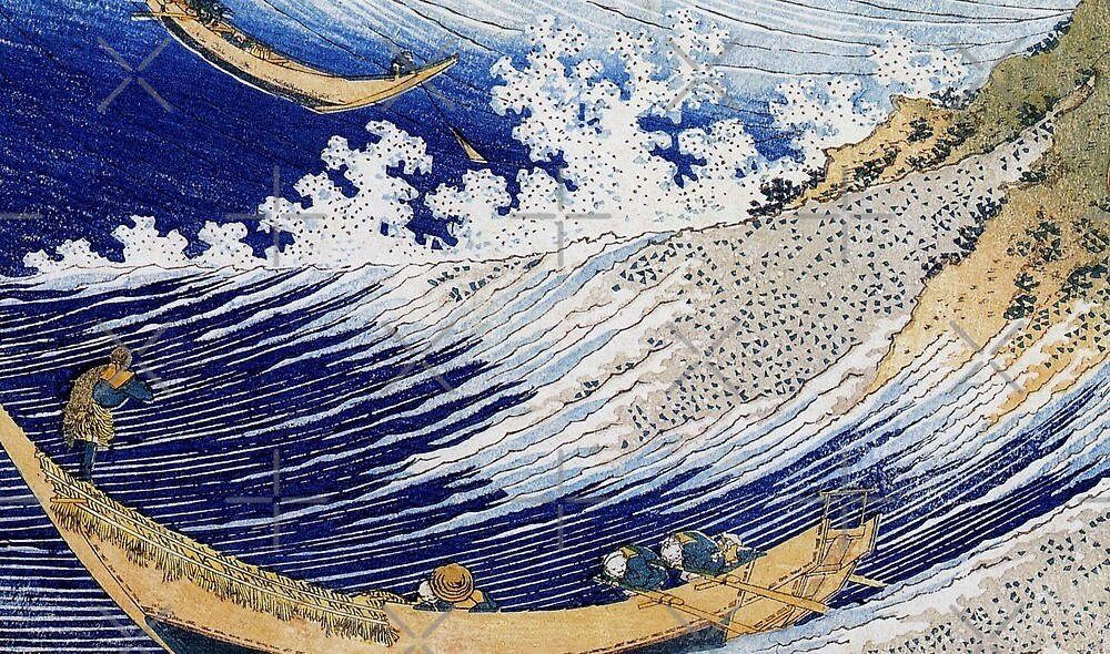 Fishermen in the Waves by diane  addis