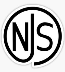 NJS stamp (black print) Sticker
