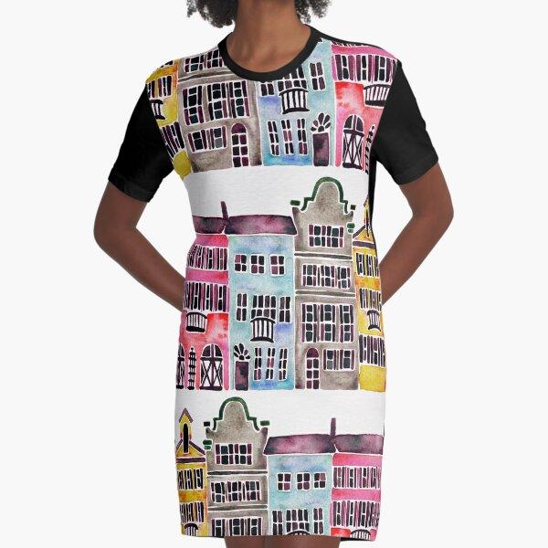 Rainbow Row – Charleston Graphic T-Shirt Dress