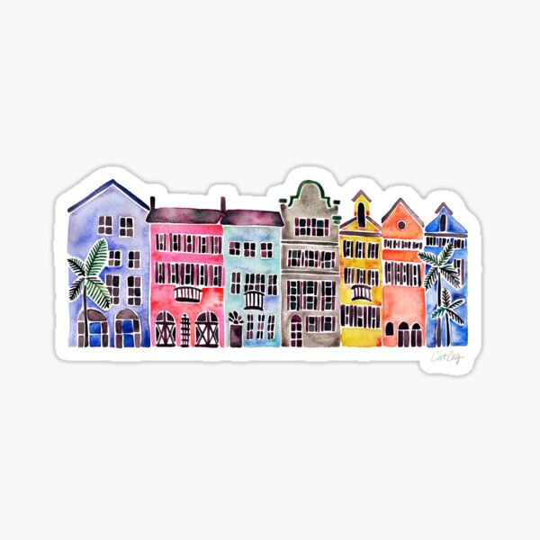 Rainbow Row – Charleston Sticker