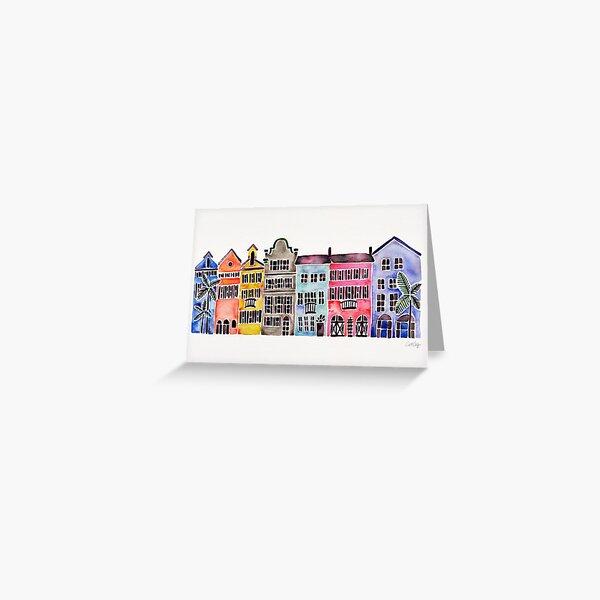 Rainbow Row – Charleston Greeting Card