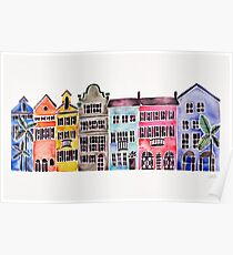 Rainbow Row – Charleston Poster