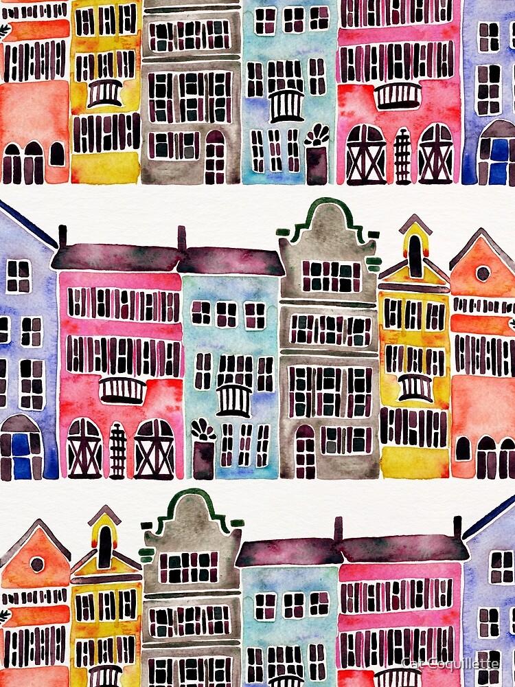 Rainbow Row – Charleston by catcoq