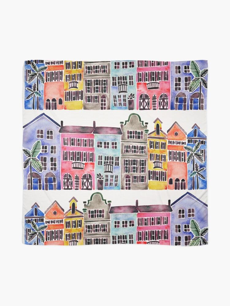 Alternate view of Rainbow Row – Charleston Scarf