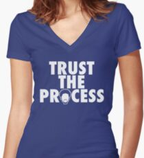Trust The Process Women's Fitted V-Neck T-Shirt