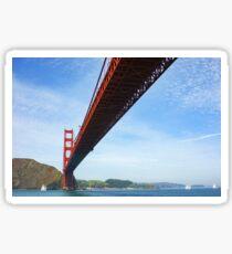 Sailing Under the Golden Gate Bridge in San Francisco Bay California Sticker