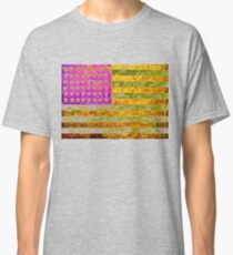 Pink, yellow and green flag appropriated from Jasper Johns Classic T-Shirt