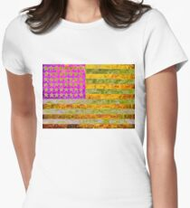 Pink, yellow and green flag appropriated from Jasper Johns T-Shirt