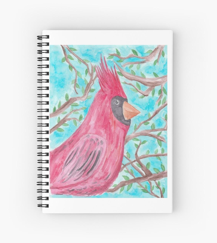 Watercolor Cardinal by decadentmousse