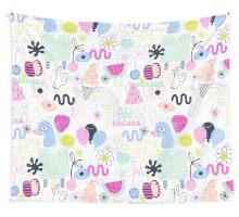 Soft Pop Summer Fun Wall Tapestry