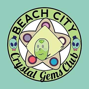 Peridot - Beach City Crystal Gems Club by ridiculouis
