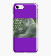 You are not allowed to ape us. iPhone Case/Skin