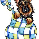 German Shepherd Sack Puppy by offleashart
