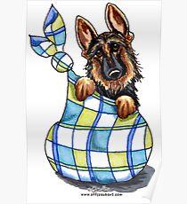 German Shepherd Sack Puppy Poster