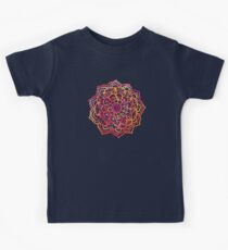 Watercolor Medallion in Sunset Colors Kids Tee