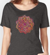 Watercolor Medallion in Sunset Colors Women's Relaxed Fit T-Shirt