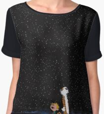 Calvin and Hobbes Stars Chiffon Top