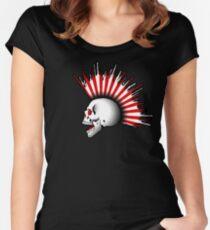 Kamikaze Skull! Women's Fitted Scoop T-Shirt