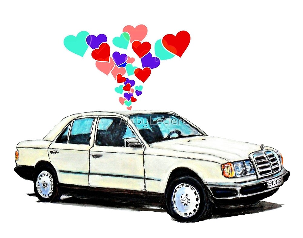 Mercedes W124 300E Hearts by ArtbyLeclerc