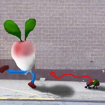 Radish Chases Pet Bean by jlkauffman