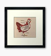Old Chicken Skeleton Framed Print