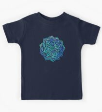 Watercolor Medallion in Ocean Colors Kids Clothes