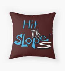 Hitting the slopes shirt Throw Pillow