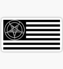 Satanic American Flag Sticker