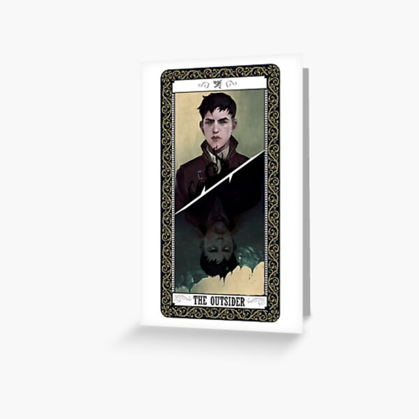 The Outsider Tarot Card Greeting Card