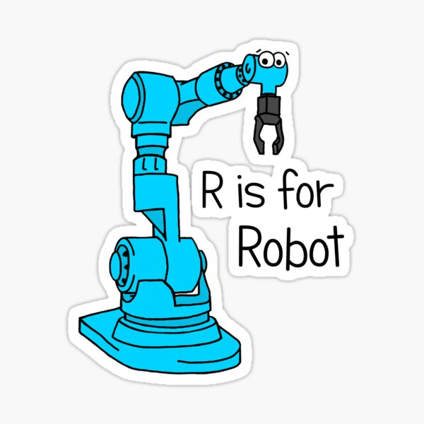R is for Robot Sticker