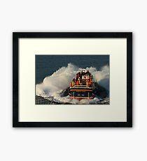 Bembridge Lifeboat Launch Framed Print