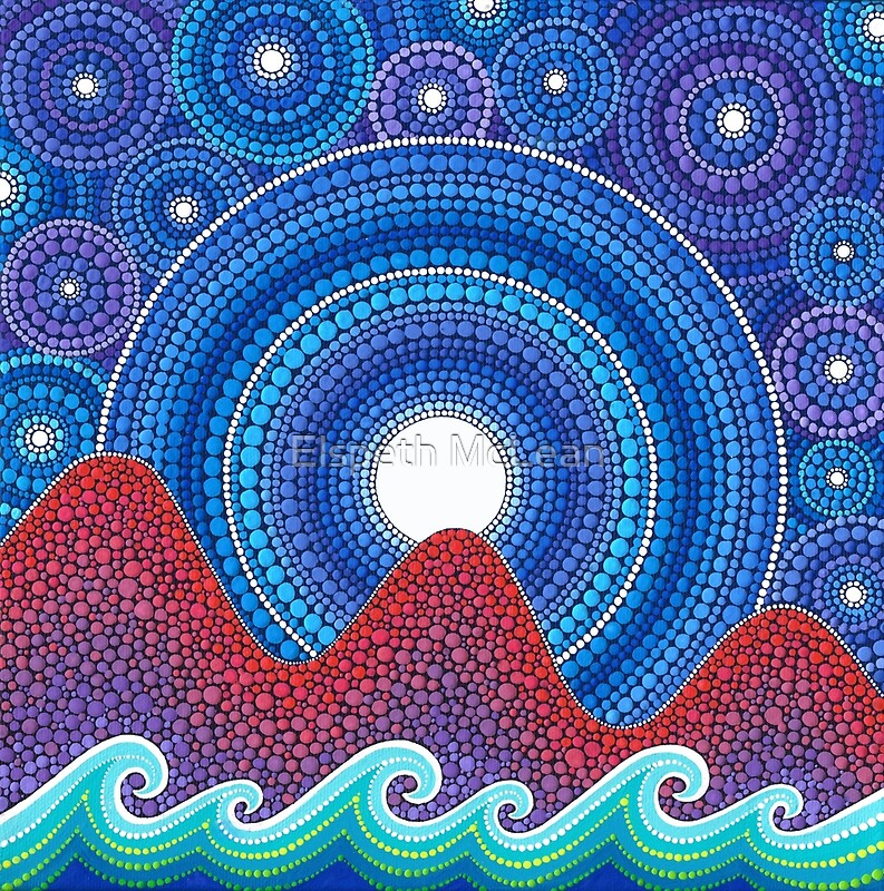 Quot 3 Mountains And A Moon Quot By Elspeth Mclean Redbubble