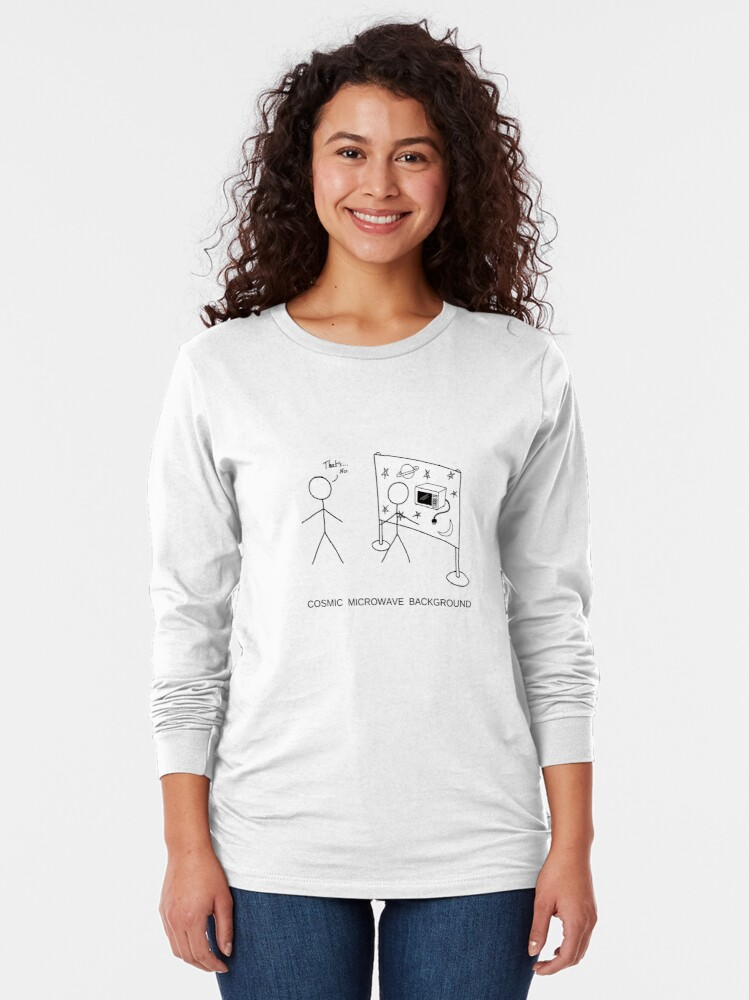 Alternate view of Cosmic Microwave Background Long Sleeve T-Shirt