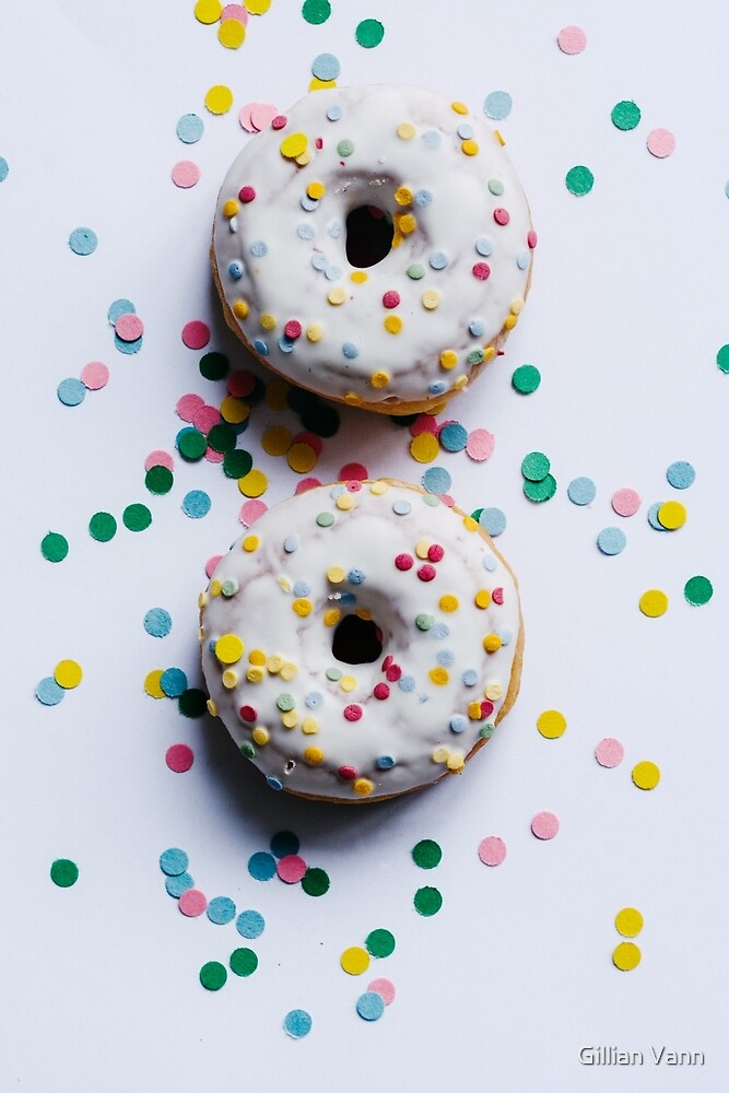 donuts with confetti by Gillian Vann