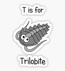 T is for Trilobite Sticker
