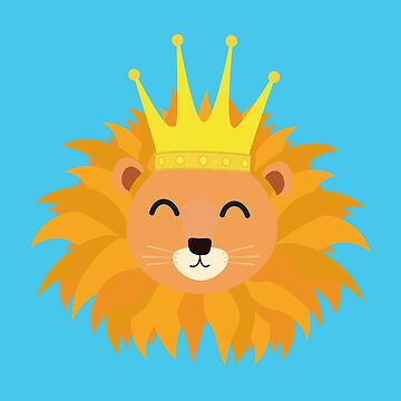 Lion head with crown by ilovecotton