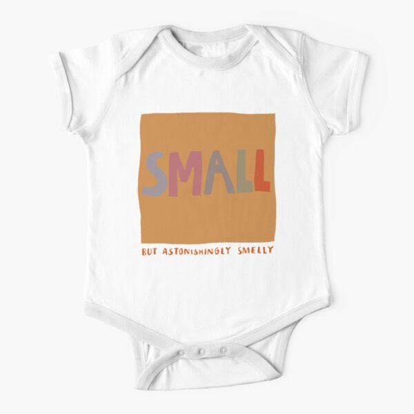 small but astonishingly smelly Short Sleeve Baby One-Piece