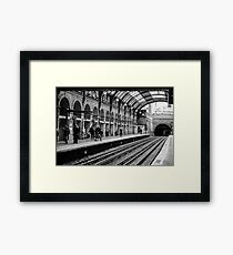 London Tube Station Framed Print