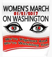 1-21-2017 Women March On Washington, DC Poster