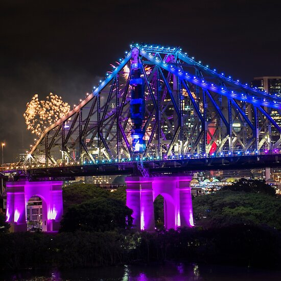 Story Bridge on New Years Eve 2016 in Brisbane by Rob D