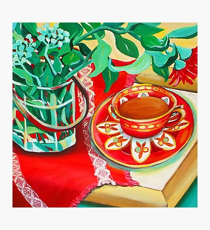 Red Teatime Photographic Print