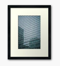 Buildings Relections Framed Print