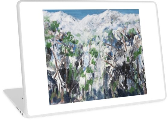 Snow Scene 1 - Abstract by Angela Gannicott