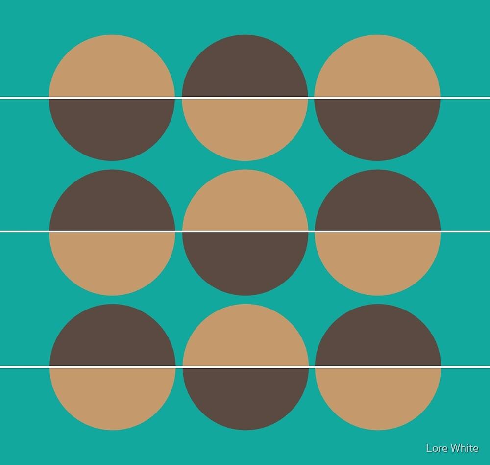 Circles - Green & Brown by Lore White