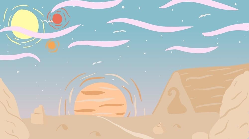 Pastel Desert Dream by GlassTable