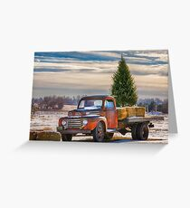 Red Truck Country Holiday Card Greeting Card